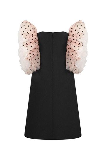 Monnalisa Girls Black Dress