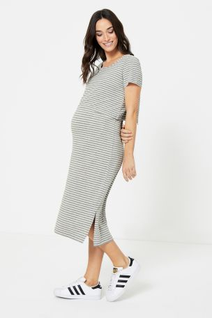 Mamalicious Maternity Dress With Nursing Function