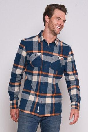 New Brakeburn Women's Large Check Flanel Shirt