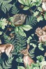 Art For The Home Navy Superfresco Easy Woodland Animals Wallpaper