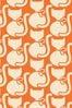 Orla Kiely Callie Cat Paprika Made To Measure Curtains