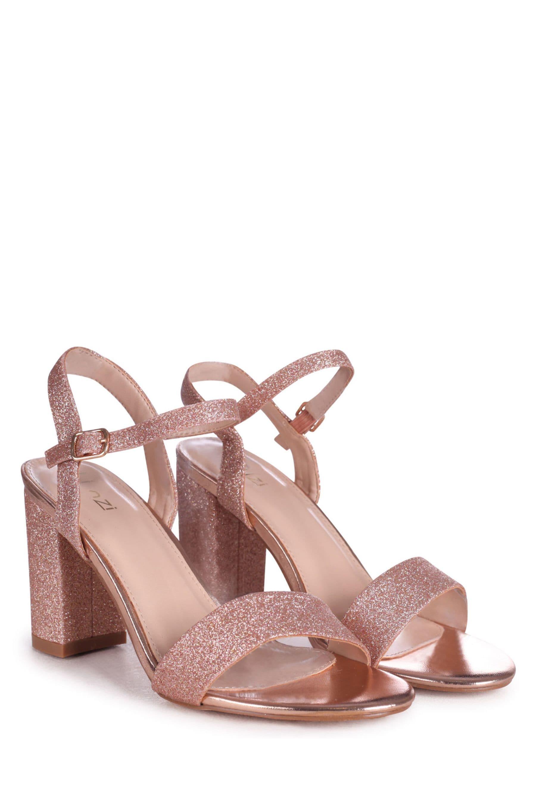 Linzi Ladies MONIQUE Barely There Block Heeled Sandal