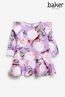 Baker by Ted Baker Ruffle Print Dress