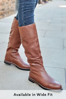 Tan Extra Wide Fit Forever Comfort® Slouched Knee High Boots