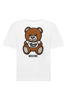 Moschino Kids White Cotton T-Shirt