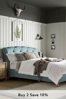 Contemporary Blend Soft Blue Hartford Bed