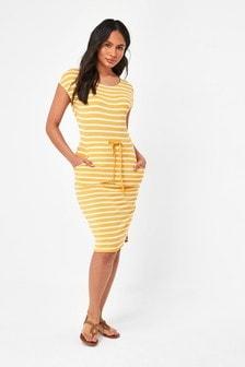 Ochre Jersey Dress