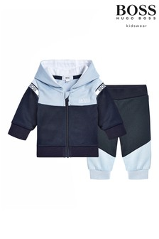 BOSS Baby Navy Logo Tracksuit Set