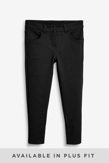 Black Jersey Skinny Trousers (3-16yrs)