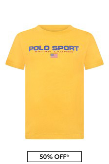 Boys Yellow Jersey Polo Sport T-Shirt