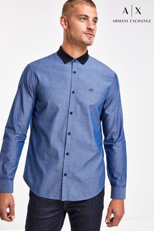 Armani Exchange Contrast Collar Shirt