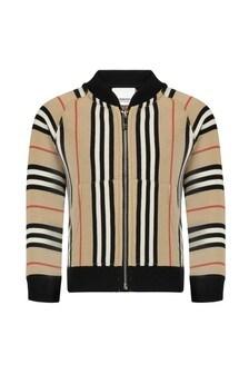 Baby Boys Beige Cotton Sweater