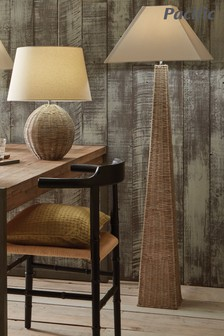 Seacomb Rattan Pyramid Floor Lamp by Pacific Lifestyle