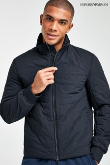 Emporio Armani Eagle Stitch Quilted Jacket