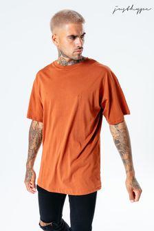 Hype. Mens Orange Brick Oversized T-Shirt