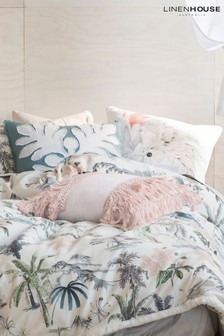 Luana Tassled Edge Cushion by Linen House