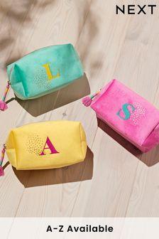 Monogram Alphabet Cosmetic Bag