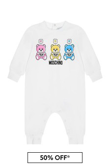 Moschino Baby White Cotton Romper