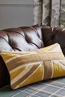 Ochre Yellow Flag Cushion