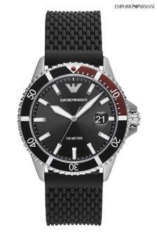 Emporio Armani Silicone Strap Diver Watch