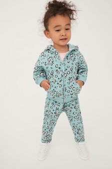 Blue Animal Hoody Soft Touch Jersey (3mths-7yrs)