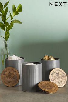 Set of 3 Salvage Storage Tins