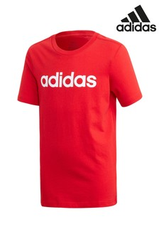 adidas Red Linear Logo T-Shirt