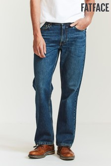 FatFace Blue Boot Cut Mid Wash Jeans