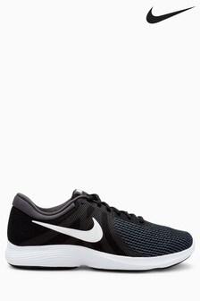 Black/White  Nike Run Revolution 4