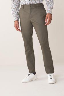 Khaki Slim Fit Stretch Chinos With Motion Flex Waistband