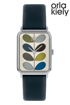 Orla Kiely Stem Leather Strap Watch