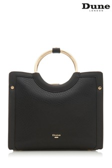 Dune London Black Damine Synthetic Circle Trim Tote Bag