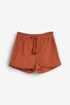 Rust Trim Detail Shorts (3-16yrs)