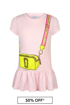 Marc Jacobs Girls Pink Cotton Dress