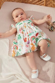 Ecru Character Prom Dress With Matching Knickers (0mths-2yrs)