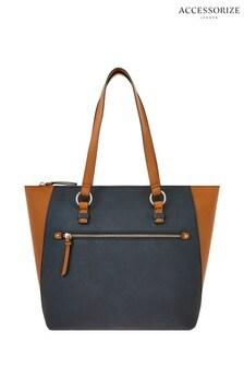 Accessorize Black Dolly Colourblock Tote Bag