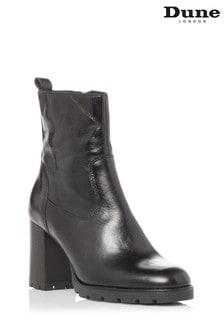 Dune London Panner Cleated Zip Up Block Heel Boots