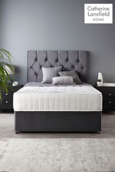 Catherine Lansfield Boutique Divan Set With Ortho Pocket Mattress Steel