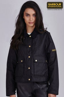 Barbour® International Waxed Burnout Cropped Jacket