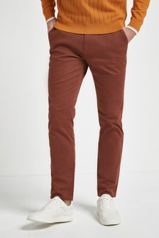 Brick Slim Fit Stretch Chinos