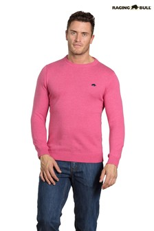 Raging Bull Pink Cashmere Crew Neck Sweater