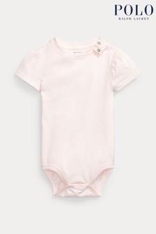 Ralph Lauren Light Pink Logo Bodysuit