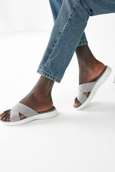 Silver Forever Comfort® Sporty Sandals