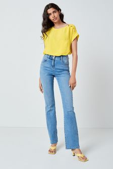 Mid Blue Enhancer Boot Cut Jeans