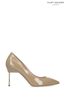 Kurt Geiger London Britton 90 Nude Patent Heels Shoes