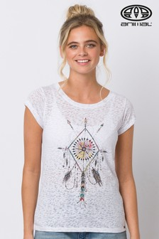 Animal White Rolling Rain Graphic T-Shirt