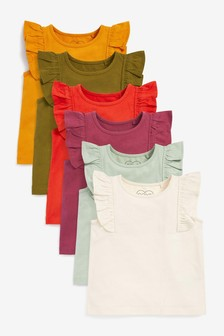 Multi 6 Pack Basic Vests (3mths-7yrs)