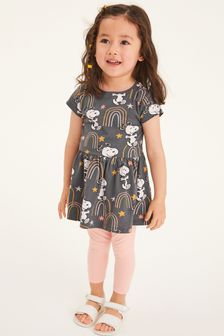 Charcoal Snoopy Jersey Dress (3mths-7yrs)