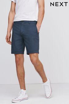 Blue Slim Fit Stretch Chino Shorts