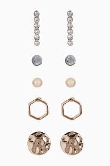 Gold Tone Stud Earrings Pack